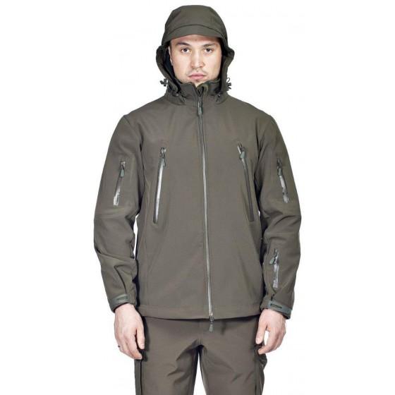 Куртка с капюшоном МПА-26 (ткань софтшелл) хаки