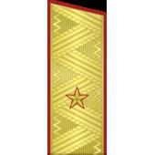 Погоны генерал-майор МО на китель парадные метанит
