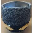 Шапка из каракуля комбинированая с кожей с вышитым козырьком для высшего командного состава (с вышивкой)