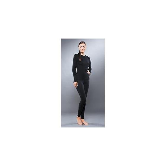 Комплект женского термобелья Guahoo: рубашка + лосины (651S-BK / 651P-BK)