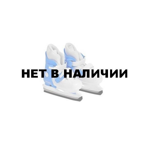 Коньки раздвижные PW-219-2 (голубой/белый)