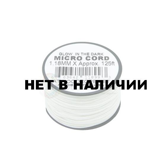 Паракорд ATWOODROPE Glow-in-the-dark 1.18мм х 125 MICRO CORD 38м neon white