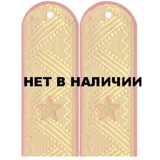 Погоны генерал-майор МВД с хлястиком парадные метанит