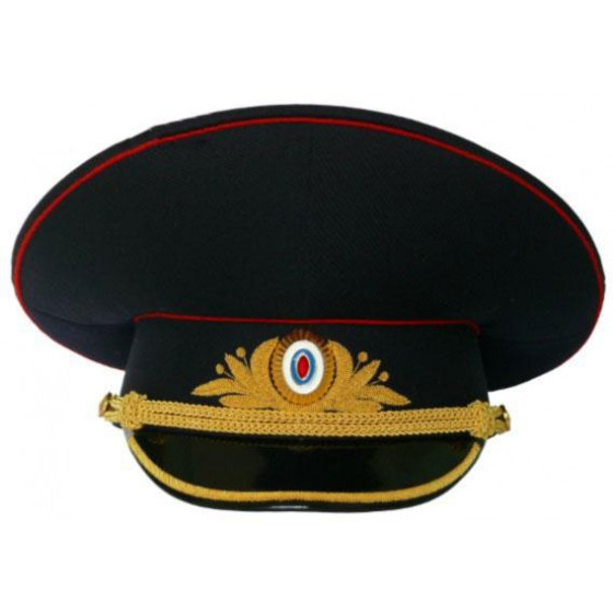 Фуражка генеральская Полиция полушерсть повседневная модельная метанит