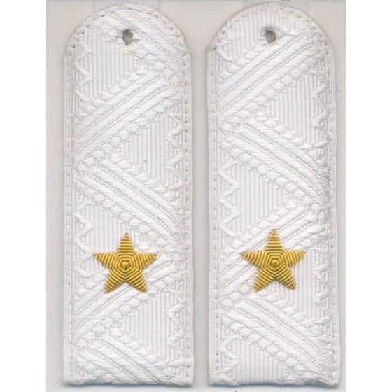 Погоны генерал-майор Юстиции на белую рубашку повседневные