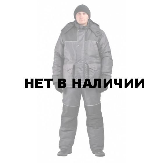 Костюм мужской Восток Люкс зимний т. плащевая POLY CLINCH Серый+Черный