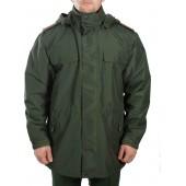 Куртка демисезонная под офисную форму черная воротник стойка (рип-стоп/черная)