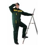 Костюм мужской Актуал с брюками зелёный с жёлтым