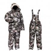 Костюм мужской Тайга зимний, подклад фольгированный, ткань мембрана, цв, камуфляж Paintball.