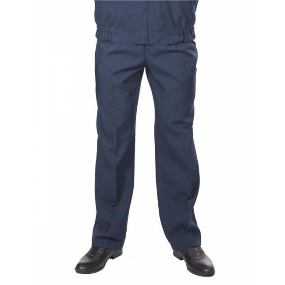Брюки УИС, ткань Габардин серо-синий с краповым кантом