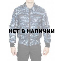 Куртка демисезонная МПА-34 (Пилот), камуфляж серо-голубая цифра твил/файбертек 120
