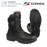 Ботинки кожаные утепленные PATRIOT с высокими берцами PU-TPU SOFT