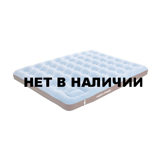 Матрац надувной Air bed King Comfort Plus синий/коричневый,204 x 185 x 20 см, 40069