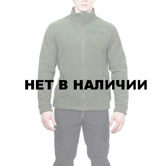 Куртка флисовая с воротником МПА-57 цвет т-зеленый
