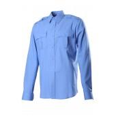 527 сорочка, длинный рукав, Сорочечная голубая