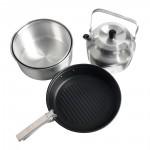 Набор посуды для 4х (2кастрюли, чайник, сковорода)