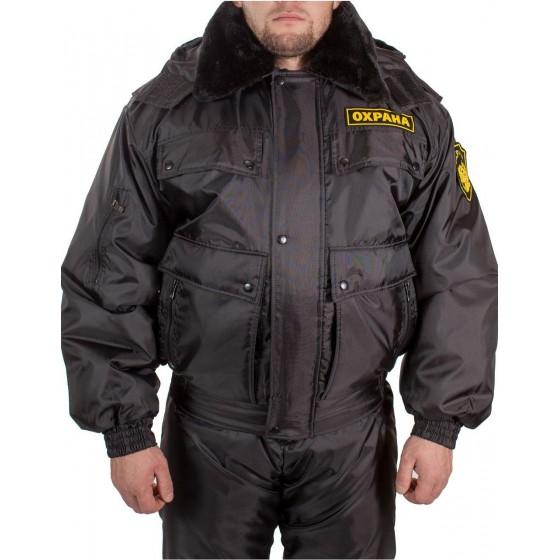 Куртка зимняя СВЯТОГОР черная (оксф, файб)