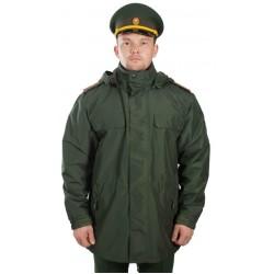 Куртка демисезонная под офисную форму воротник на стойке (рип-стоп/зеленая)