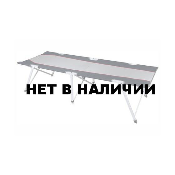 Кровать Campingliege Oviedo серый/тёмно-серый, 190 x 64 x 43 см, 44136