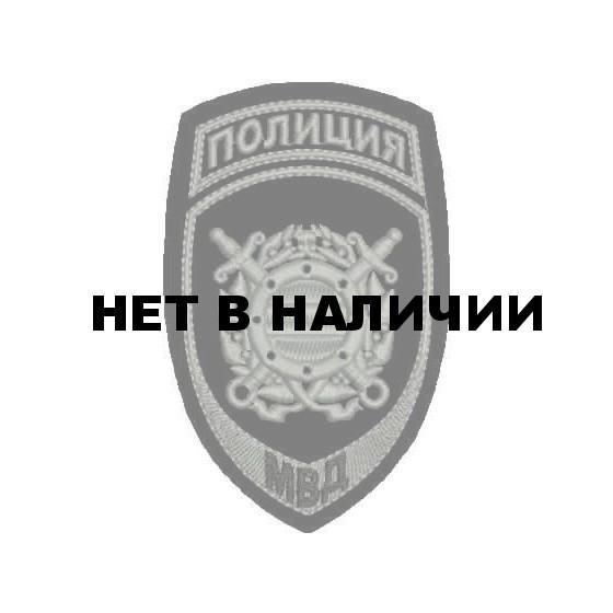 Нашивка на рукав Полиция Подразделения охраны общественного порядка МВД России полевая пластик
