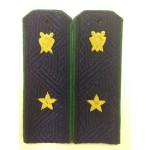 Погоны государственный советник юстиции 3 класса Прокуратура на синюю рубашку с эмблемой