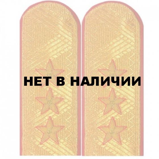 Погоны генерал-полковник МВД с хлястиком парадные метанит
