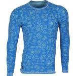 Футболка L/S Africa мод.2 синяя (рисунок)