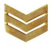 Знак различия ВС сержант повседневный металл