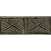 Эмблема петличная РВиА нового образца полевая вышивка шёлк