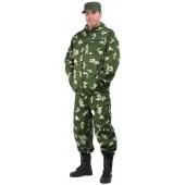 Костюм мужской Турист 1 летний, камуфляж, ткань Грета Граница зеленая