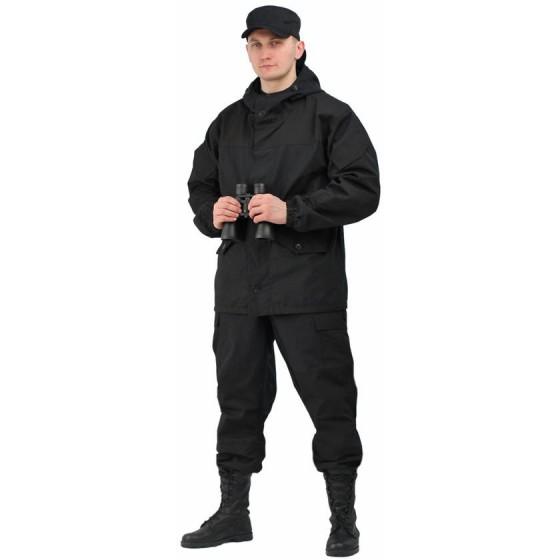 """Костюм мужской """"Горка 3"""" палатка 100% хлопок/рип-стоп чёрный"""