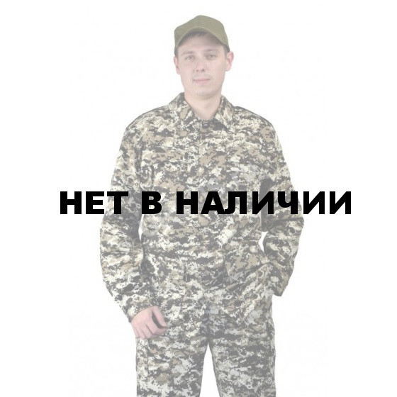 Костюм мужской Захват, камуфляж, ткань Грета Коричневая цифра