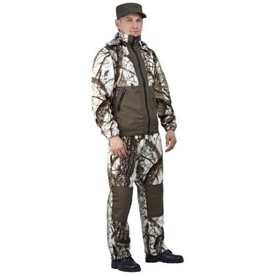 """Флисовый костюм """"Панда"""", камуфляж """"Зимний лес"""" с накладками,350г/м2"""