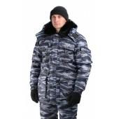 "Куртка мужская ""Охрана"" зимняя, камуфляж серый ""вихрь"""