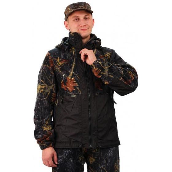 """Флисовый костюм """"Панда"""", камуфляж """"Осень"""" с накладками,350г/м2"""
