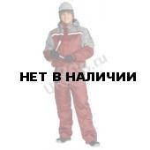 Костюм мужской Стим зимний бордовый с серым