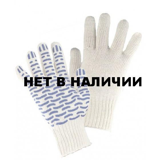 Перчатки трикотажные Аленка х/б, ПВХ Люкс-Волна (7/5)