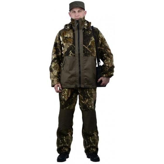 """Флисовый костюм """"Панда"""", камуфляж """"Серый каштан"""" с накладками,350г/м2"""
