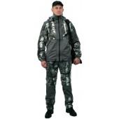 """Флисовый костюм """"Панда"""", камуфляж """"Серый лес"""" с накладками,350г/м2"""