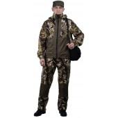 """Флисовый костюм """"Панда"""", камуфляж """"Смешанный лес"""" с накладками,350г/м2"""