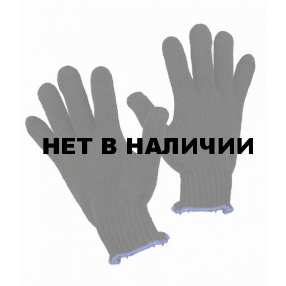 Перчатки трикотажные ЧЁРНЫЕ х/б, без ПВХ