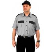 "Рубашка мужская ""Охрана"" (кор. рукав) серая с черным"