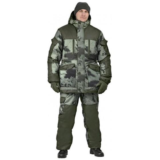 "Костюм мужской ""Nordwig Donbass"" зимний, камуфляж т.Алова ""Смог"""