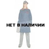"""Халат женский """"Инженер"""" т-синий с красным"""