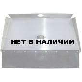 Лопата-движок алюминиевая трехбортная с накладкой 12см