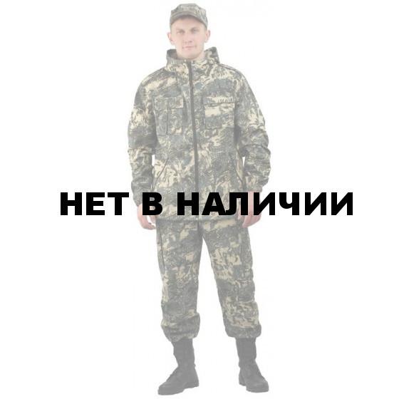 """Костюм мужской """"Турист 2"""" летний, камуфляж Твилл Пич """"Серая сетка"""""""