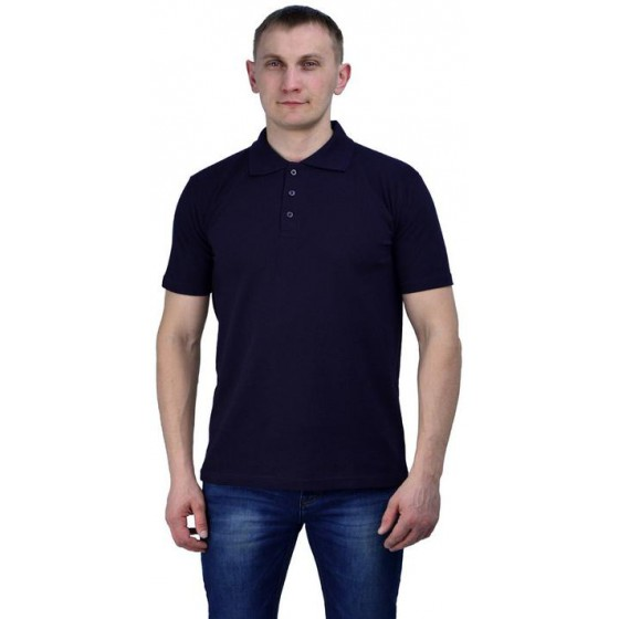 Рубашка-поло тёмно-синяя