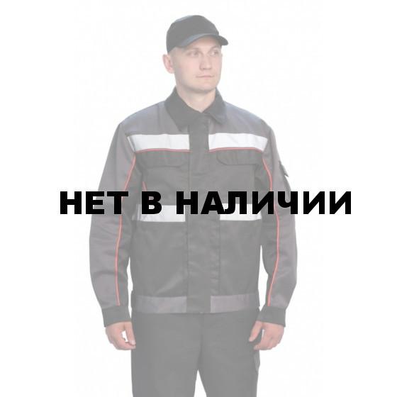 """Костюм мужской """"Базис"""" серый с черным"""