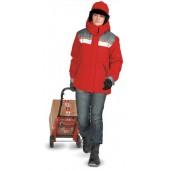 Куртка женская Эребус зимняя красная с серым