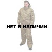 Костюм мужской Вихрь демисезонный, камуфляж рип-стоп Мультикам подкладка флис 180г